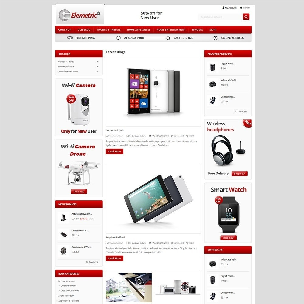 theme - Electronics & Computers - Elemetric Electronic store - 5