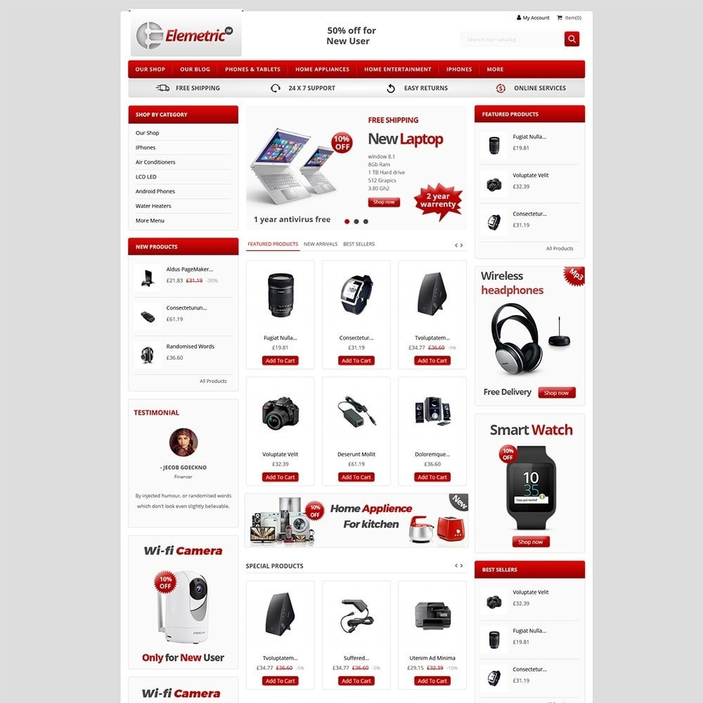 theme - Electronique & High Tech - Elemetric Electronic store - 9