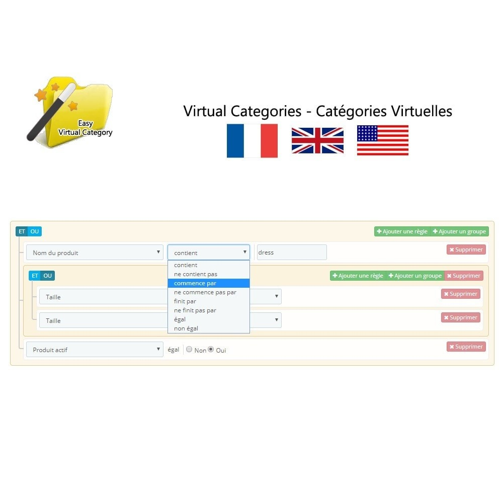 module - Быстрое & массовое редактирование - Virtual category - 3