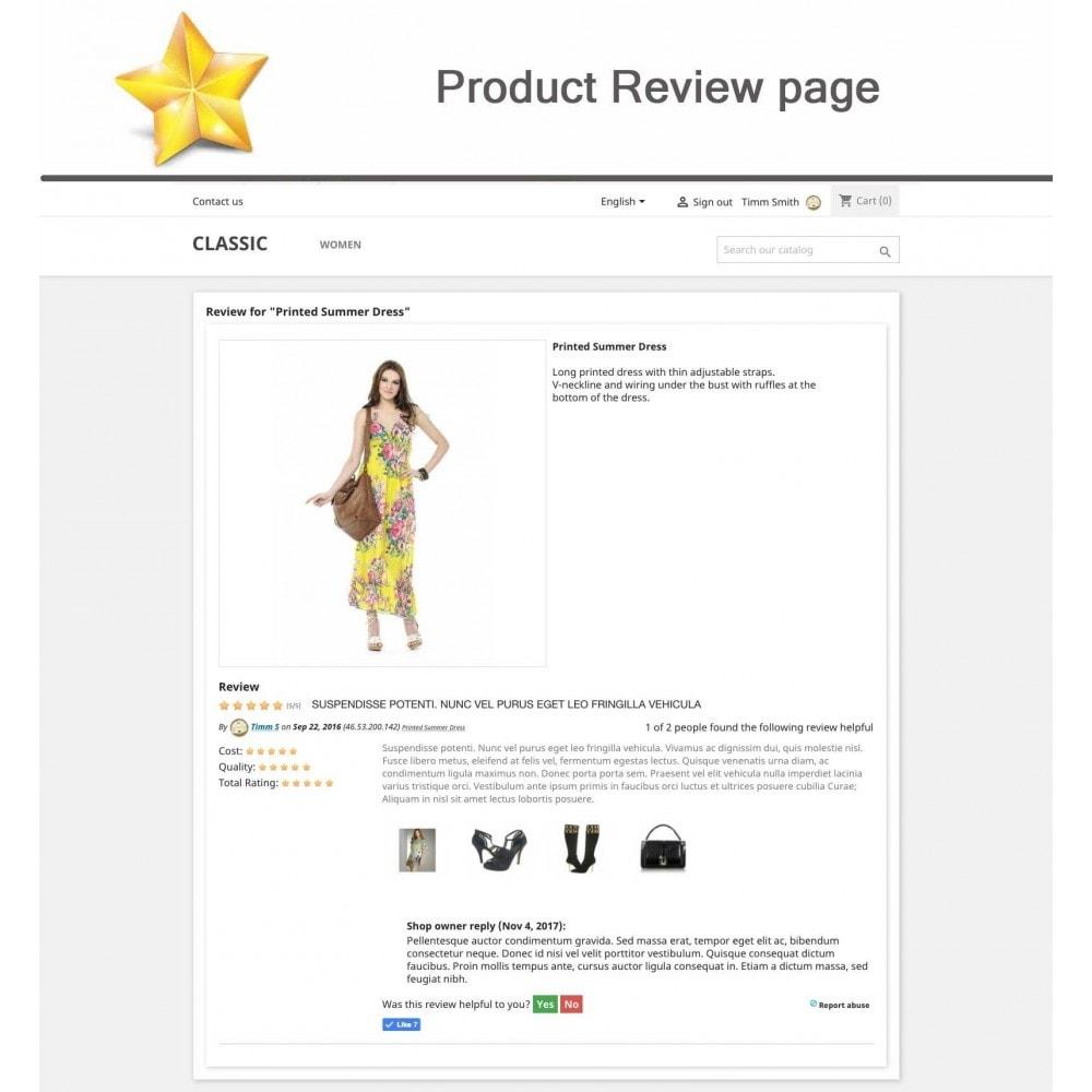 module - Recensioni clienti - Product Reviews Advanced PRO + Reminder + User Profile - 11