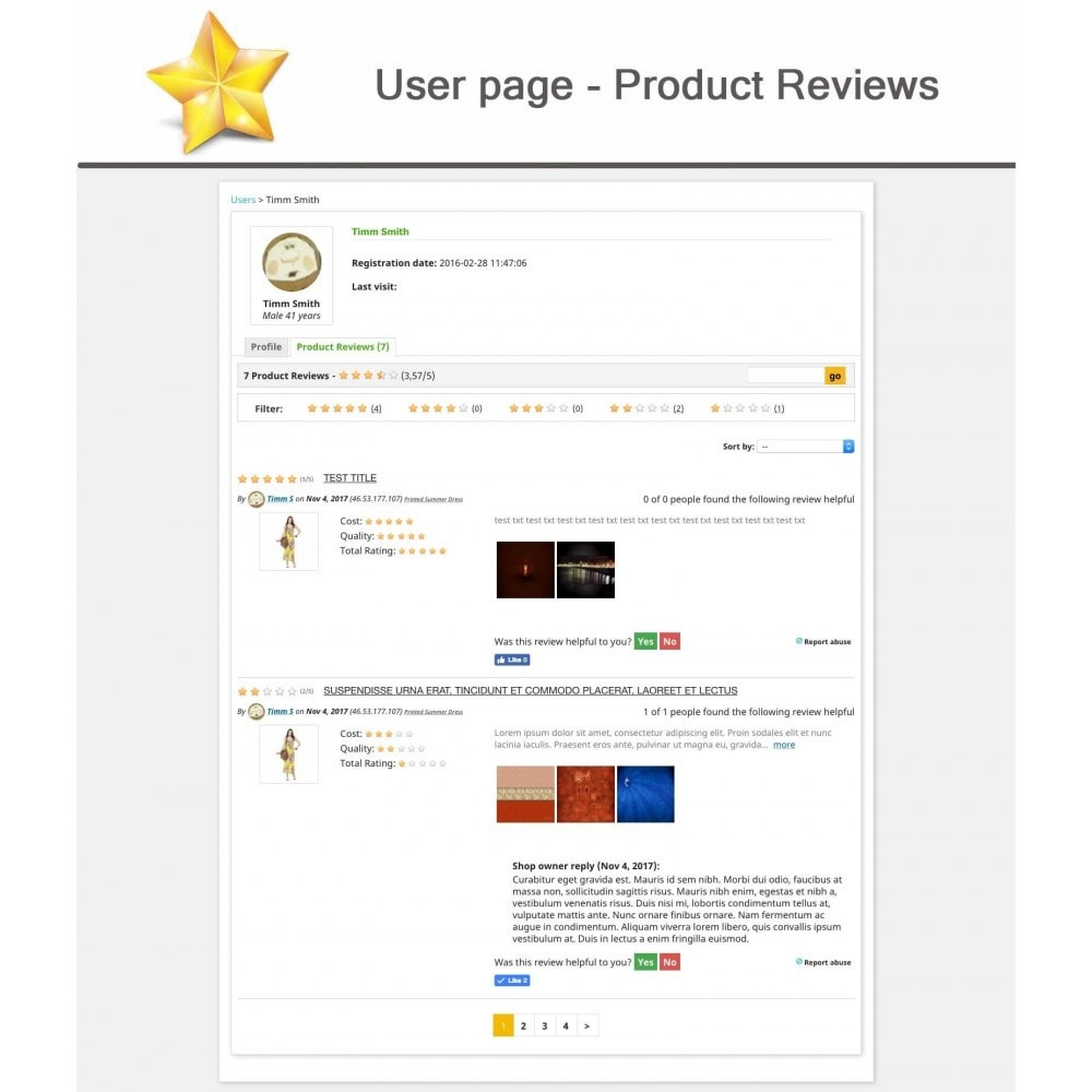 module - Customer Reviews - Product Reviews Advanced PRO + Reminder + User Profile - 14