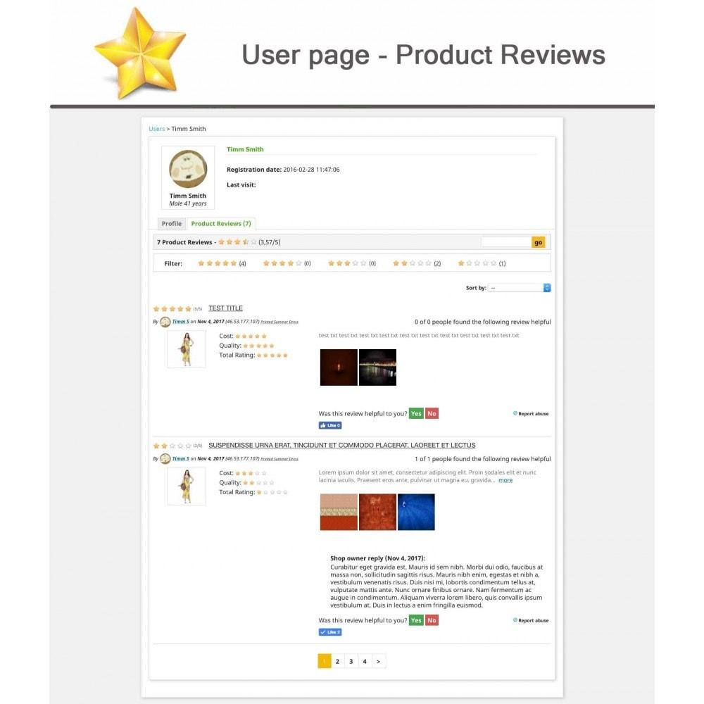 module - Recensioni clienti - Product Reviews Advanced PRO + Reminder + User Profile - 14