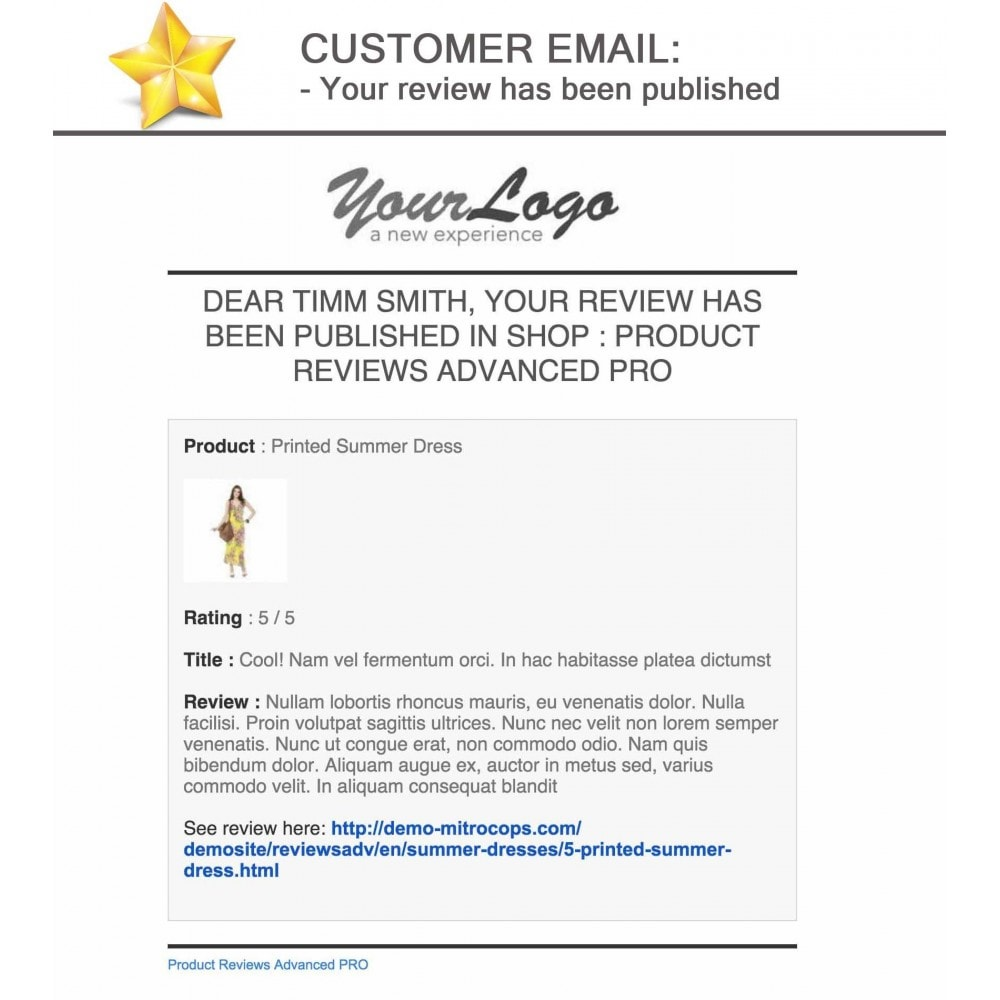 module - Recensioni clienti - Product Reviews Advanced PRO + Reminder + User Profile - 27