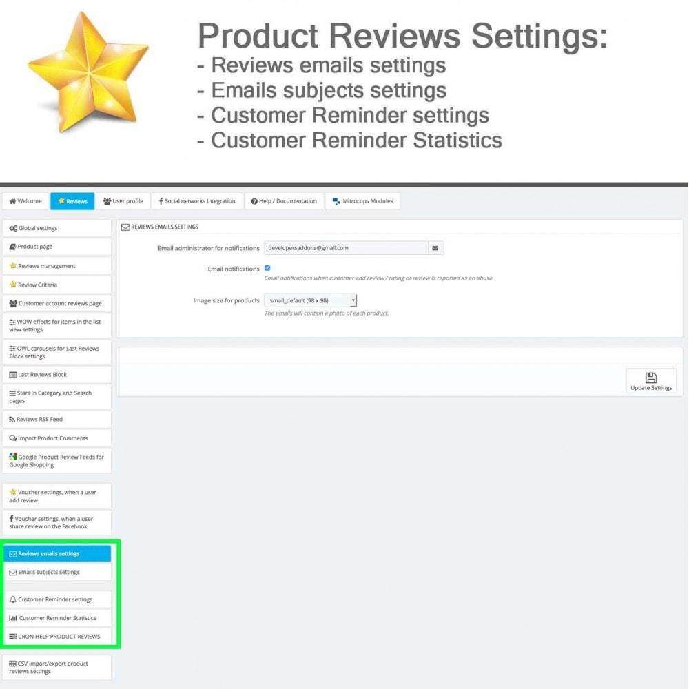 module - Recensioni clienti - Product Reviews Advanced PRO + Reminder + User Profile - 30