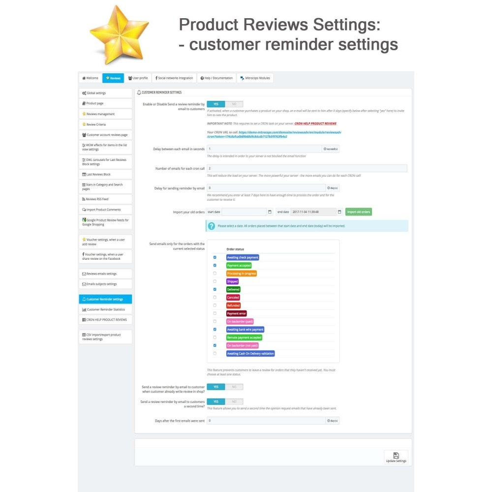 module - Customer Reviews - Product Reviews Advanced PRO + Reminder + User Profile - 31