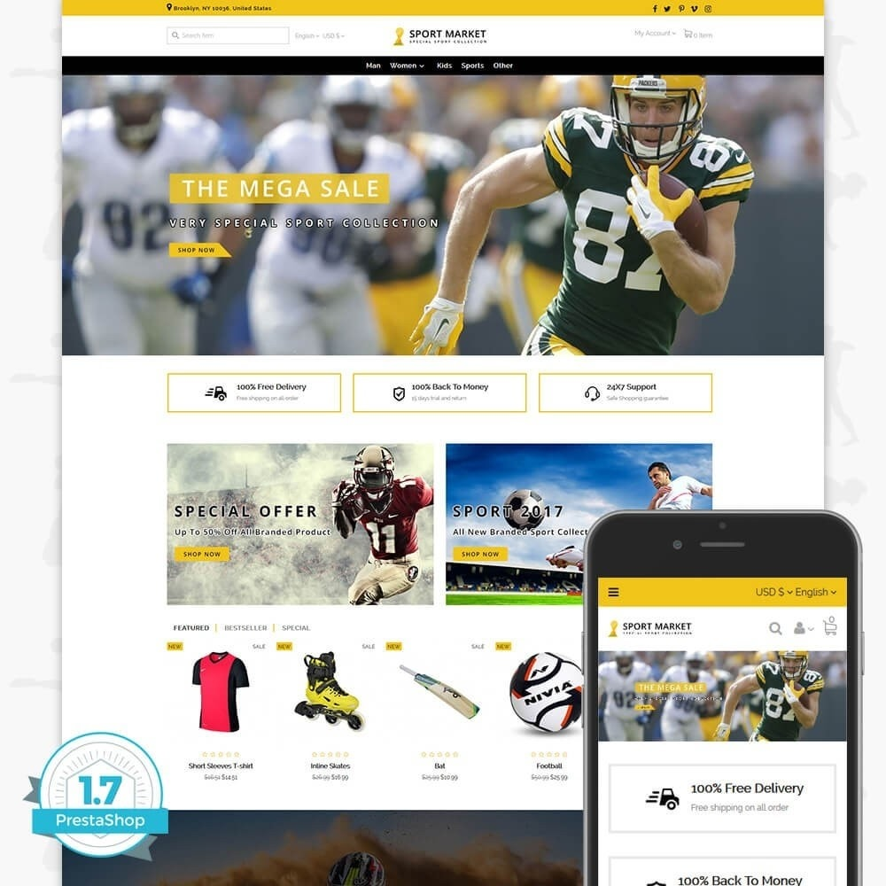 theme - Спорт и Путешествия - Sport Market - 1