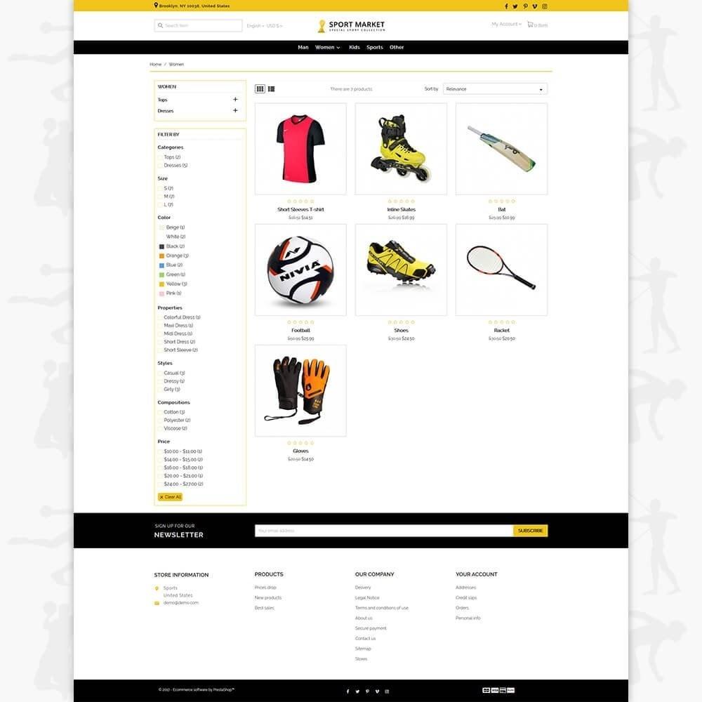 theme - Спорт и Путешествия - Sport Market - 3