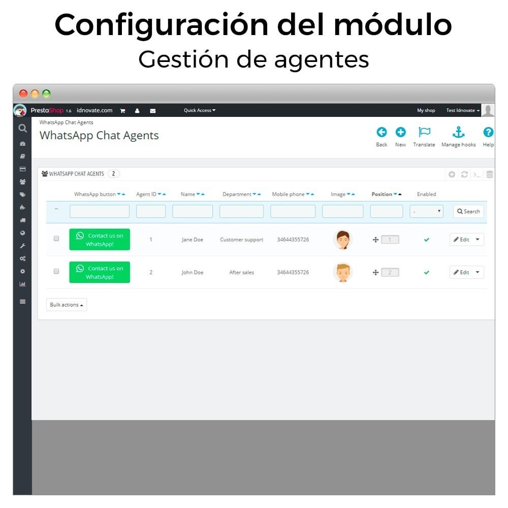 module - Asistencia & Chat online - WhatsApp - Chat con clientes y WhatsApp para Negocios - 20