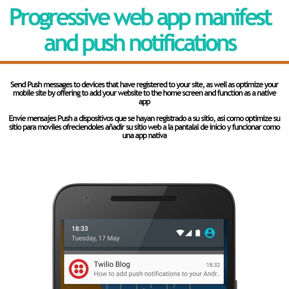 module - E-maile & Powiadomienia - Progressive web app and push notifications - 1