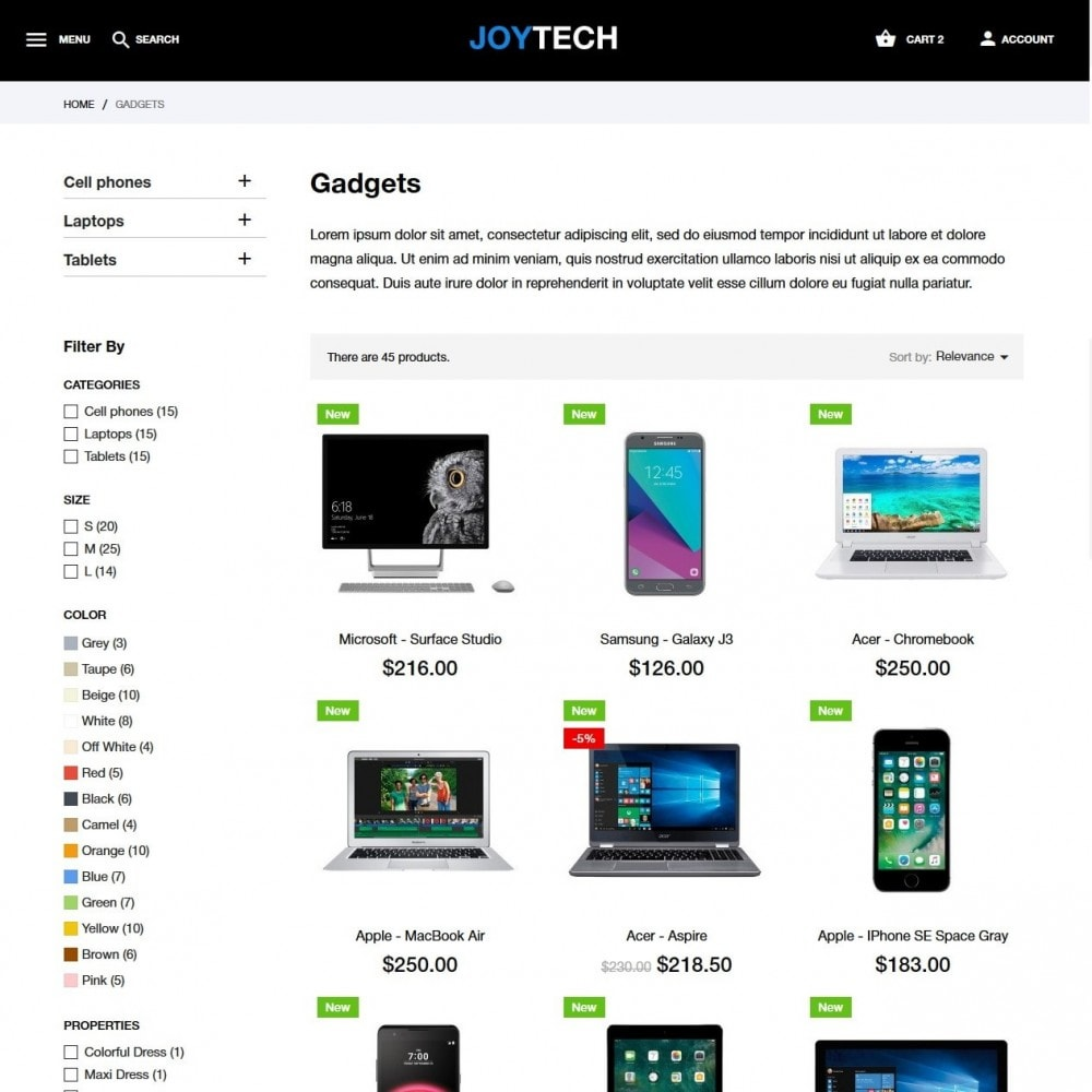 theme - Elettronica & High Tech - Joytech - High-tech Shop - 5