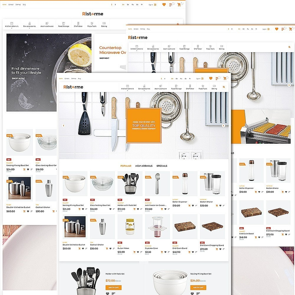 theme - Alimentos & Restaurantes - Ristorme - Restaurant Equipment & Houseware - 2