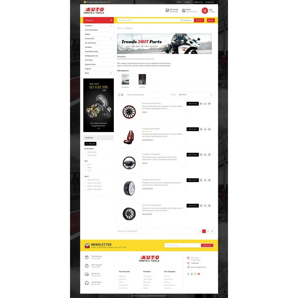 theme - Carros & Motos - Auto Parts Mega Store - 4