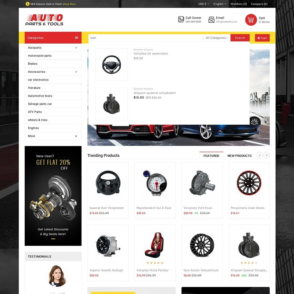 theme - Carros & Motos - Auto Parts Mega Store - 10