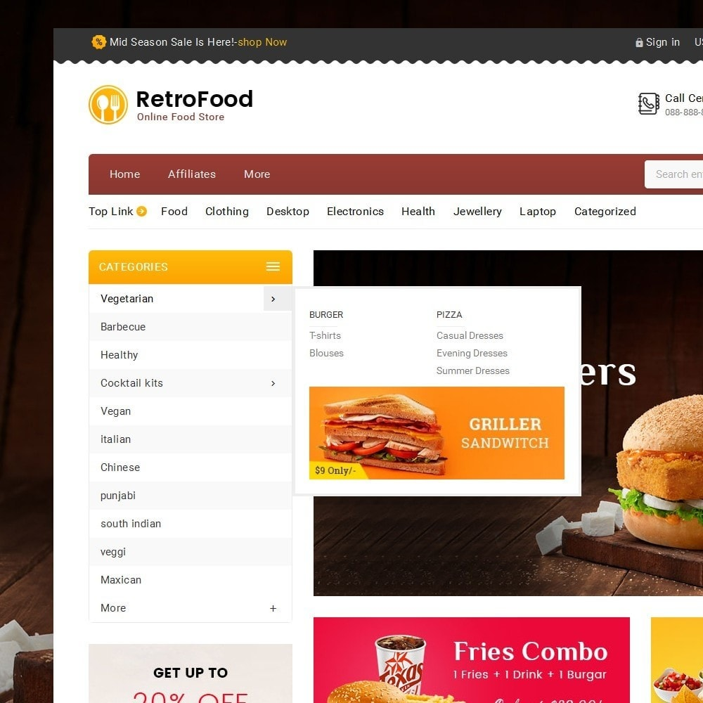 theme - Food & Restaurant - Fast Foods Mega Store - 9