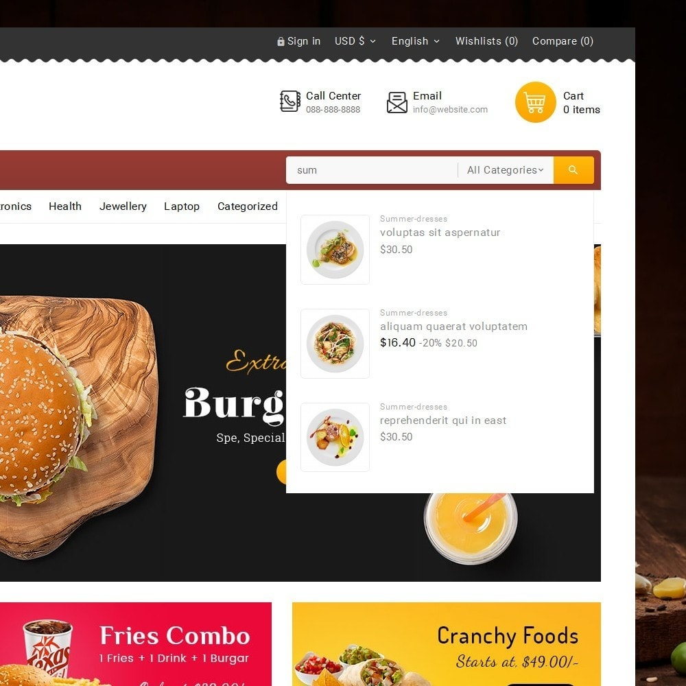 theme - Food & Restaurant - Fast Foods Mega Store - 10