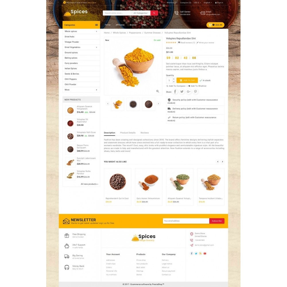 theme - Food & Restaurant - Spices Mega Store - 5