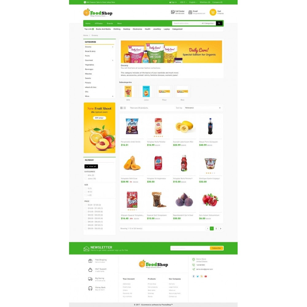 theme - Food & Restaurant - Grocery Food Mega Store - 3