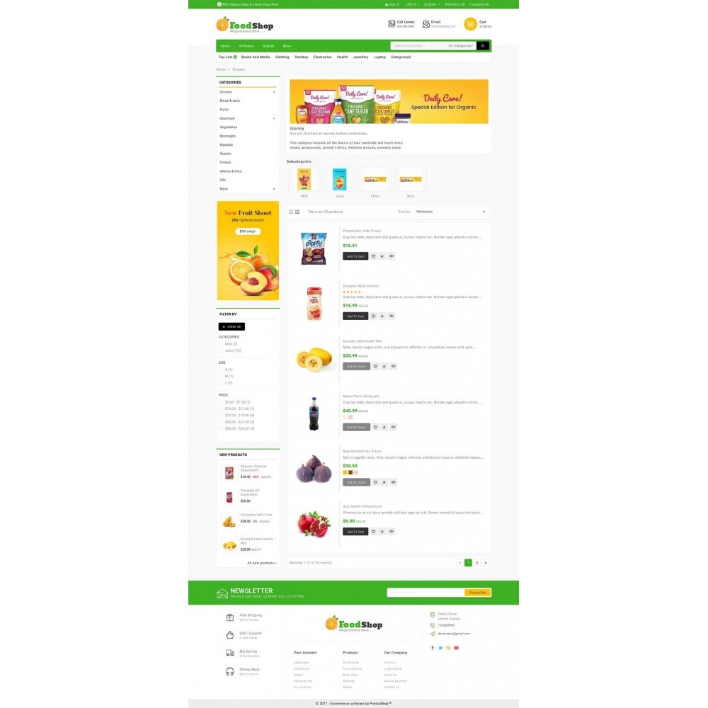 theme - Alimentation & Restauration - Grocery Food Mega Store - 4