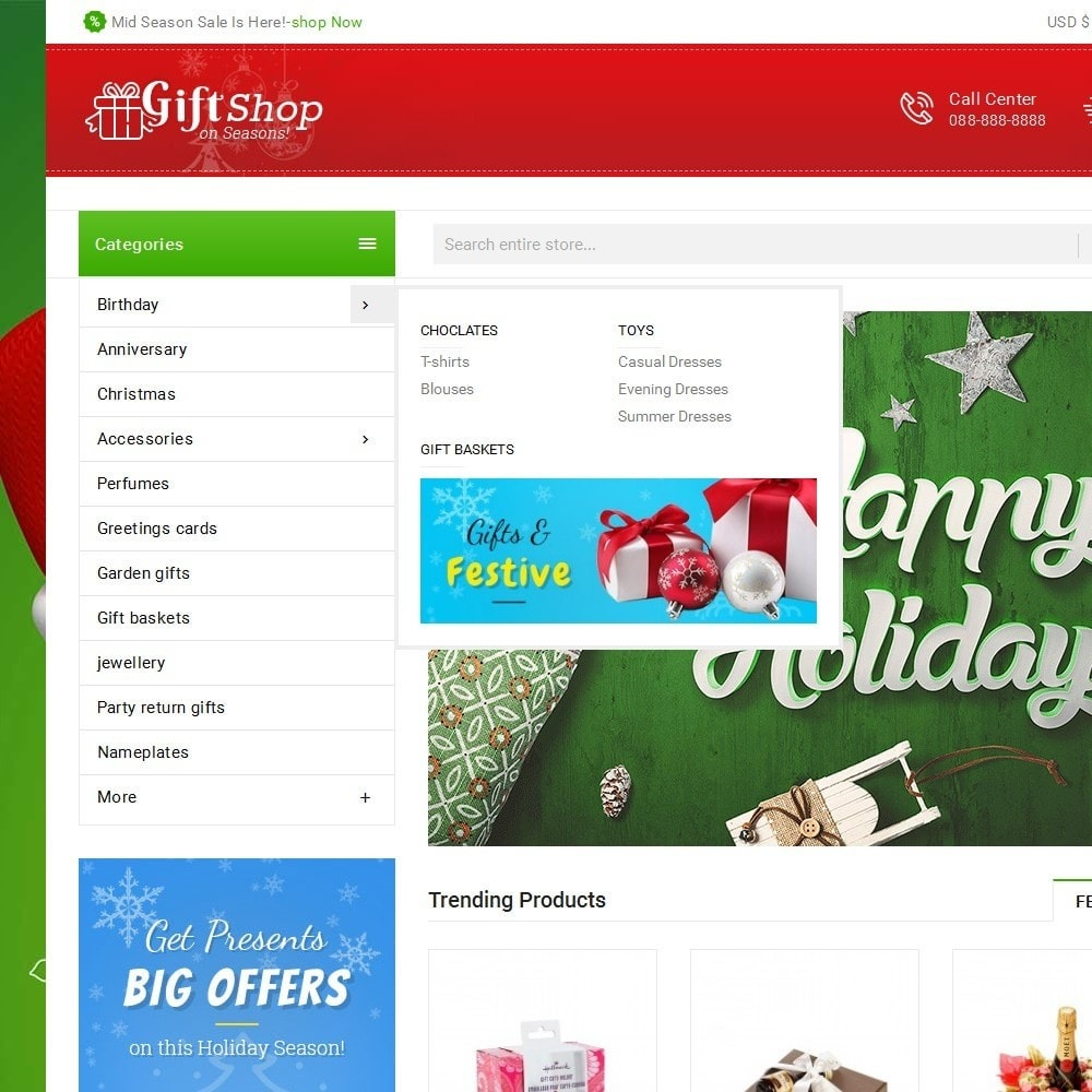 theme - Gifts, Flowers & Celebrations - Christmas Gift Mega Store - 9