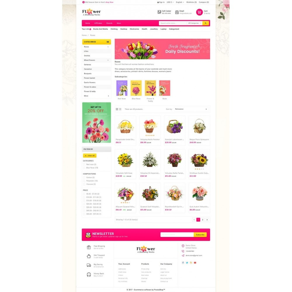 theme - Gifts, Flowers & Celebrations - Blooming Flower Mega Store - 3