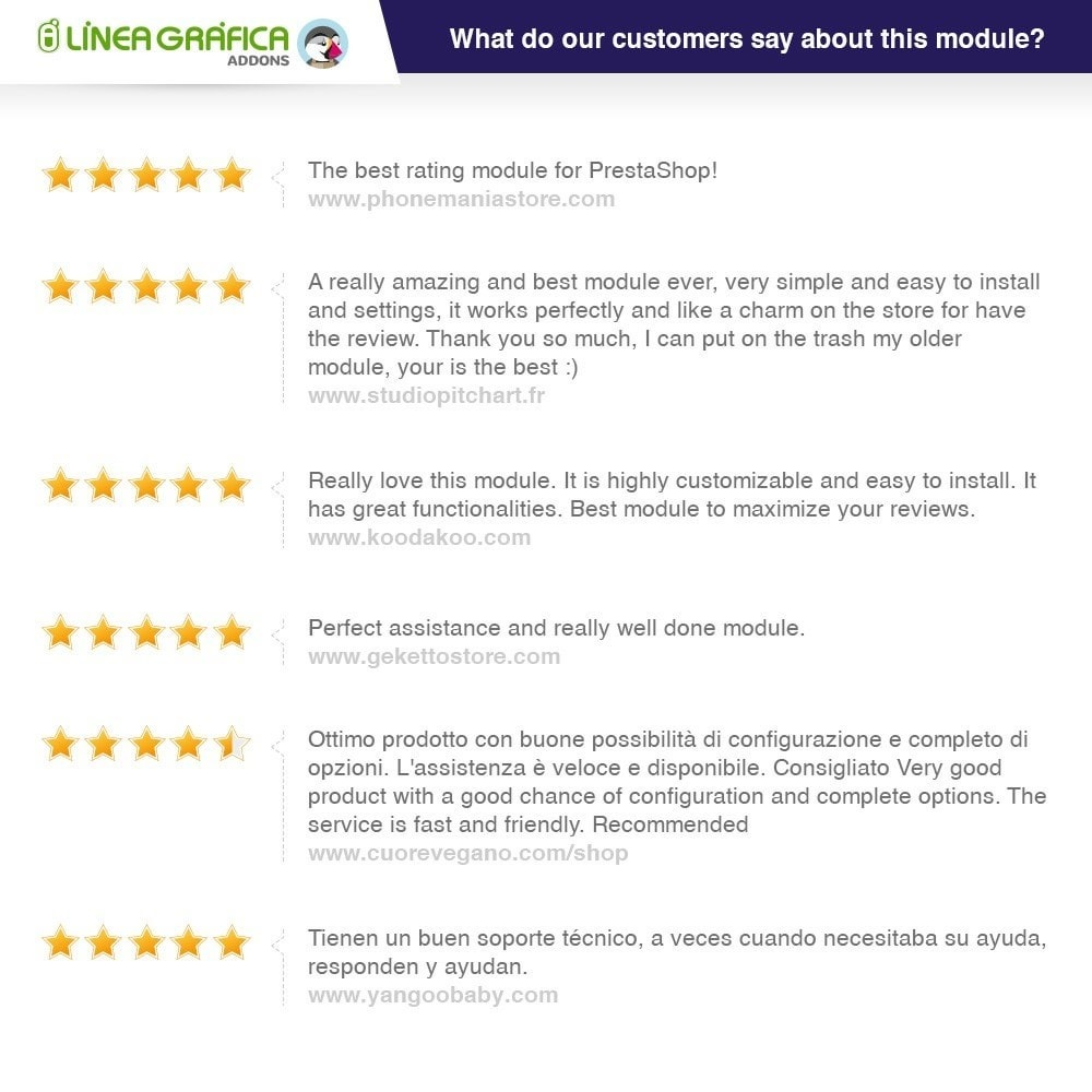 module - Opiniões de clientes - Store Reviews + Product Reviews + Google Rich Snippets - 2