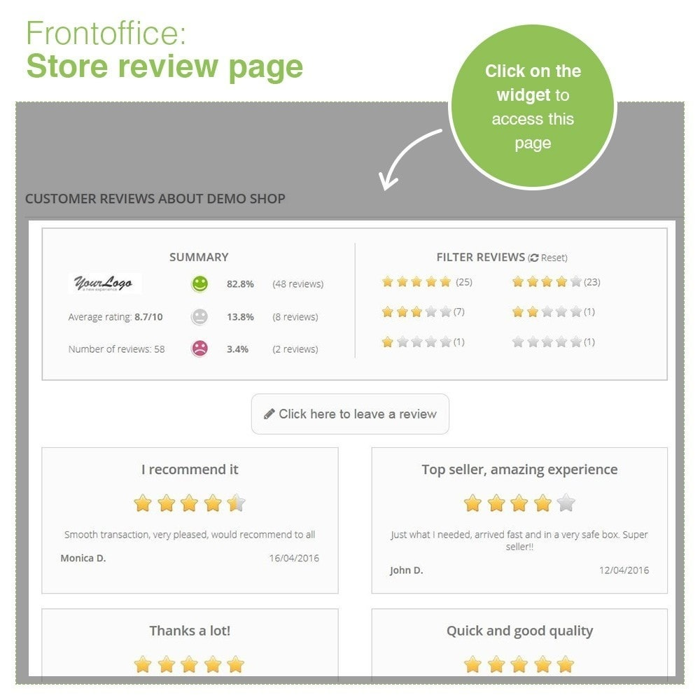 module - Klantbeoordelingen - Store Reviews + Product Reviews + Google Rich Snippets - 9