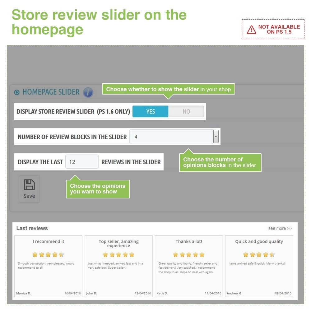 module - Customer Reviews - Store Reviews + Product Reviews + Google Rich Snippets - 12
