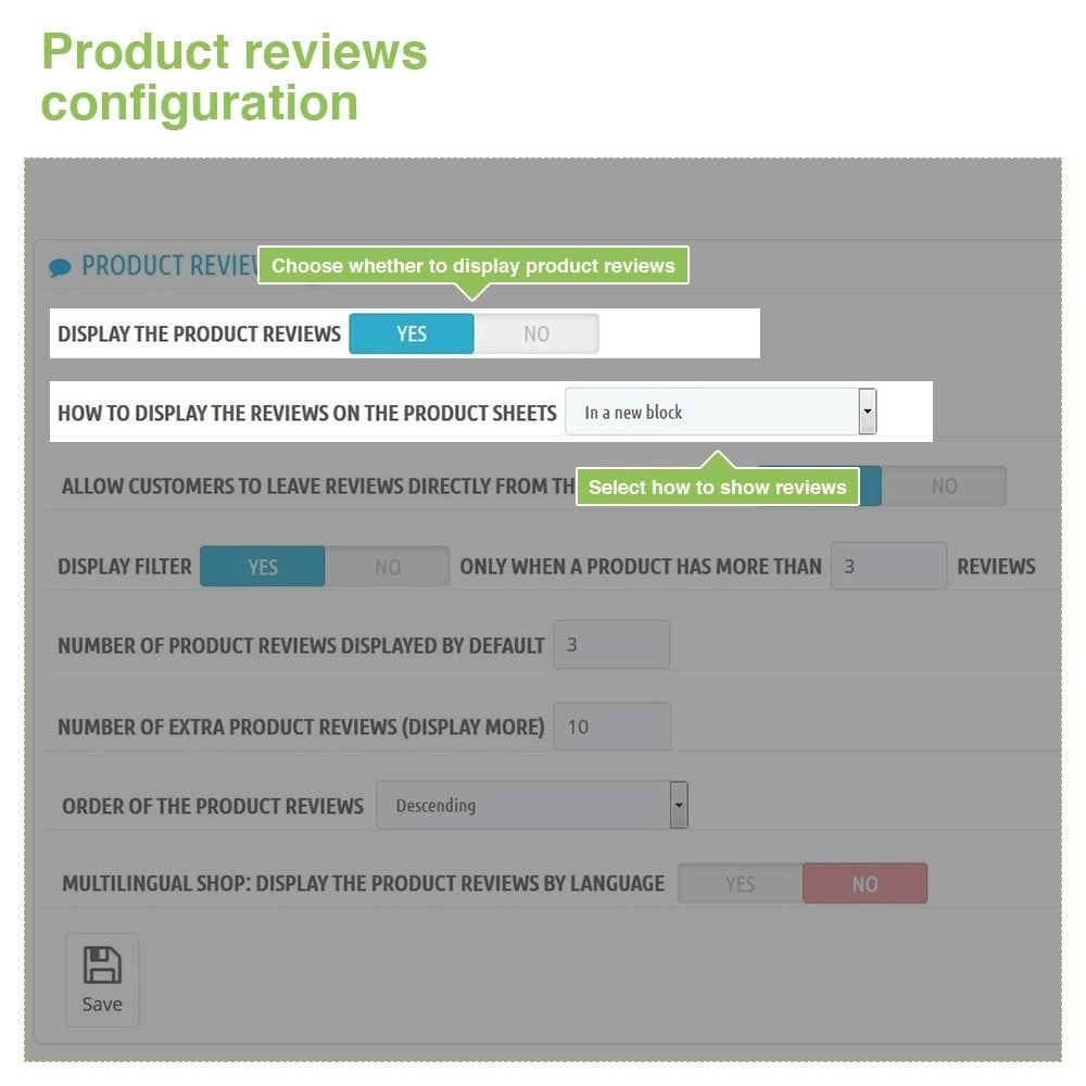 module - Отзывы клиентов - Store Reviews + Product Reviews + Google Rich Snippets - 13