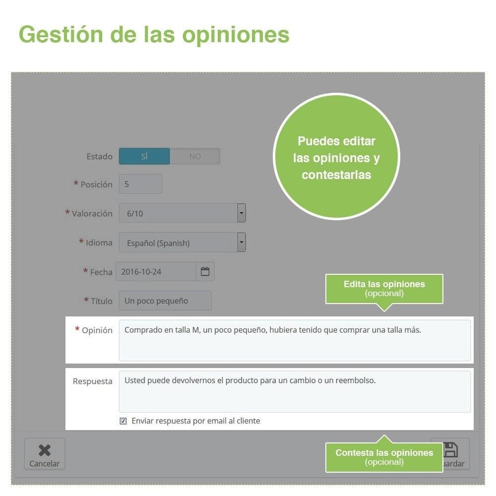 module - Comentarios de clientes - Opiniones Tienda + Opiniones Productos + Rich Snippets - 37