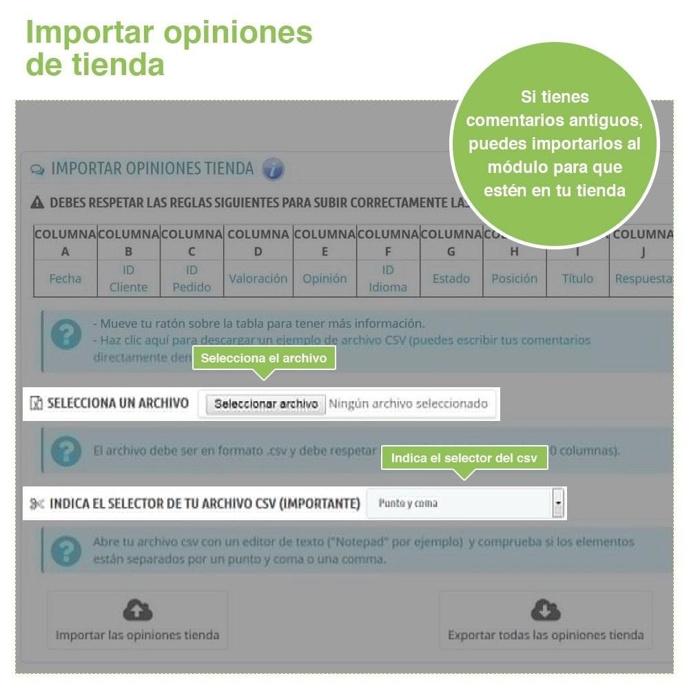 module - Comentarios de clientes - Opiniones Tienda + Opiniones Productos + Rich Snippets - 39