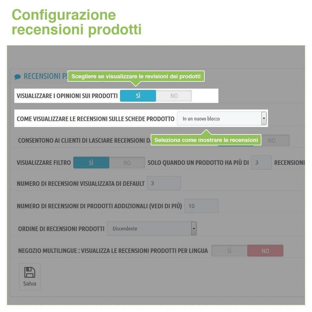 module - Recensioni clienti - Recensioni Negozio + Recensioni Prodotti + Snippets - 13