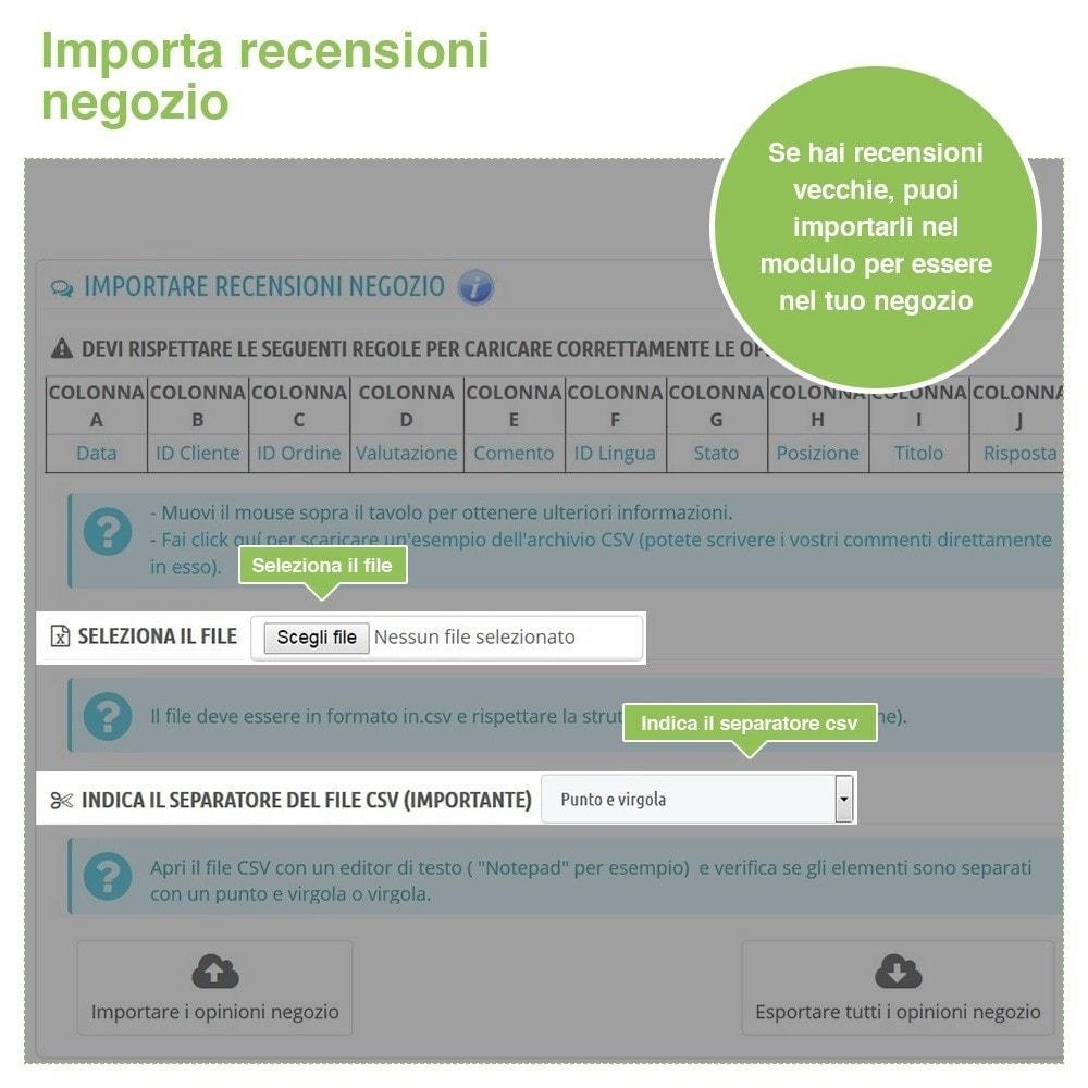 module - Recensioni clienti - Recensioni Negozio + Recensioni Prodotti + Snippets - 39