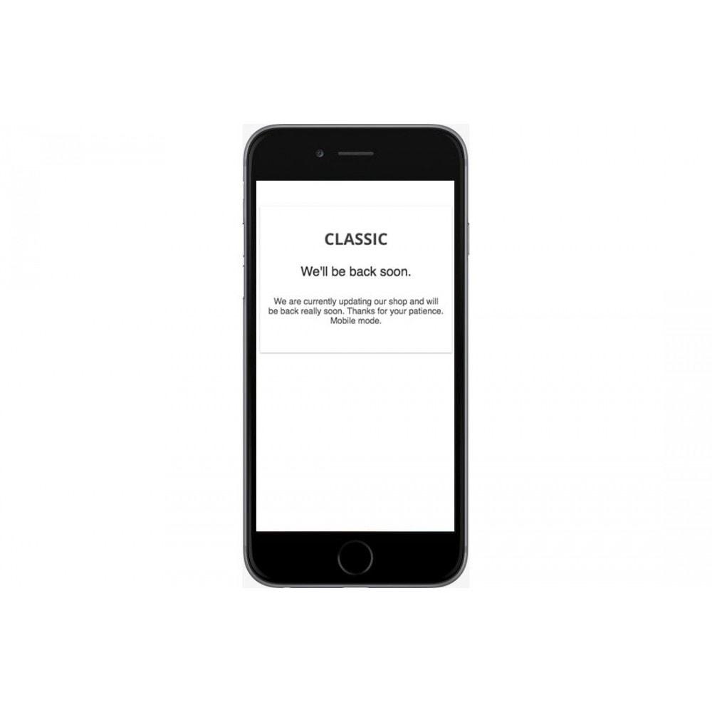 module - Personalização de página - Extended Maintenance mode - 2