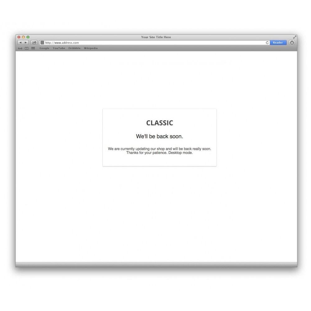 module - Personalização de página - Extended Maintenance mode - 3