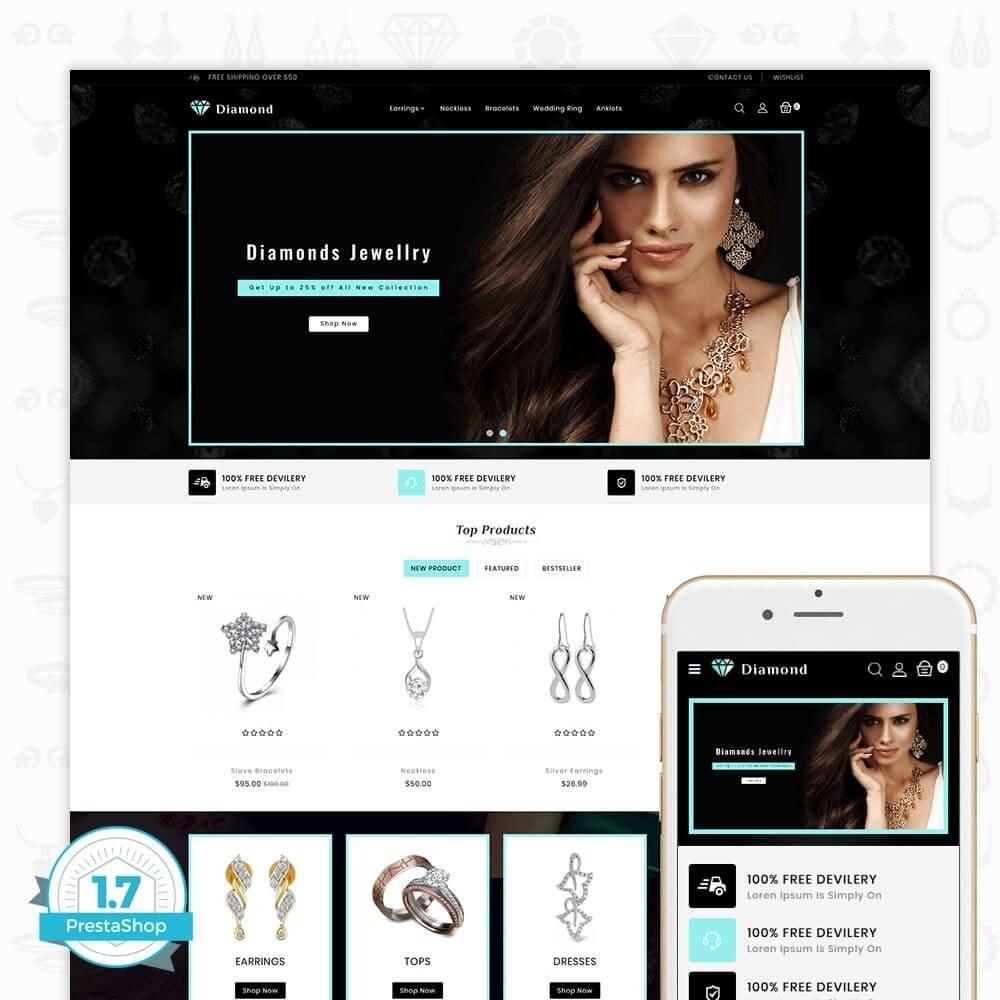 theme - Saúde & Beleza - Diamond Jewellery Shop - 1