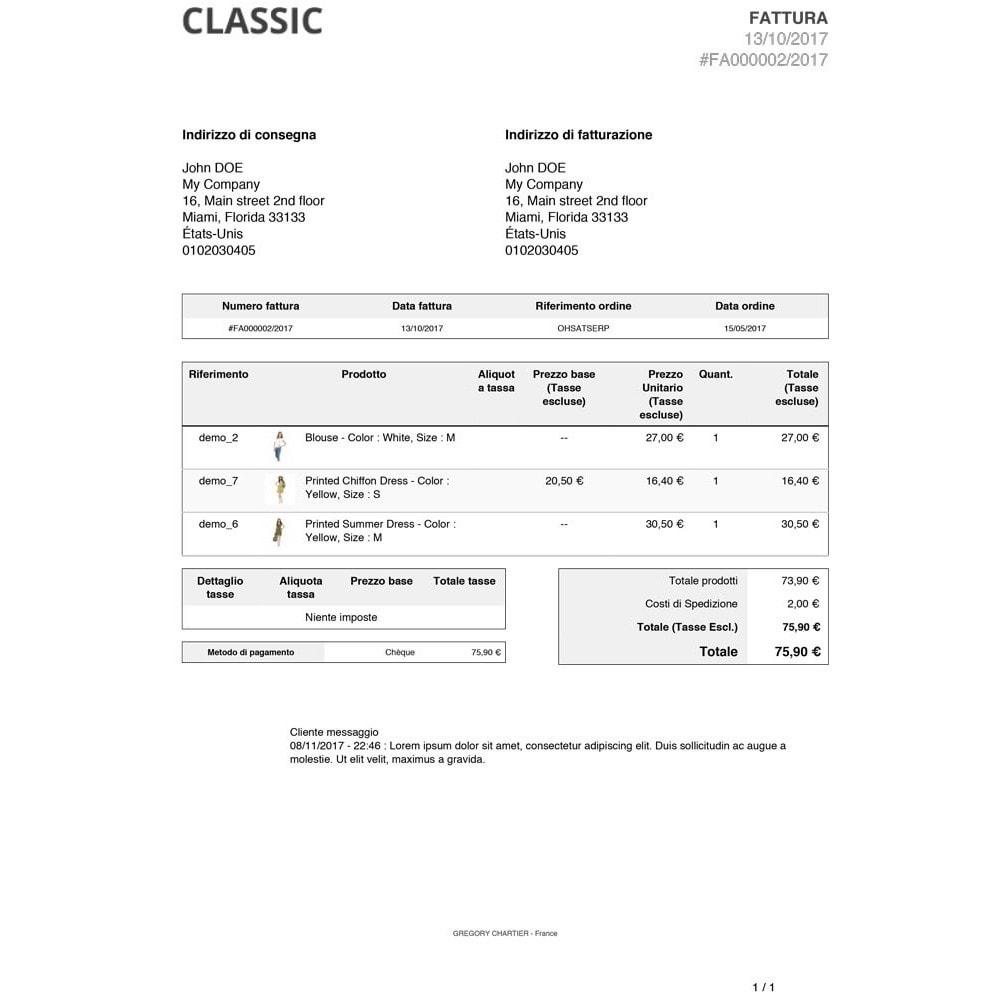 module - Gestione Ordini - Messaggi clienti sulle fatture e/o bolle di consegna - 3