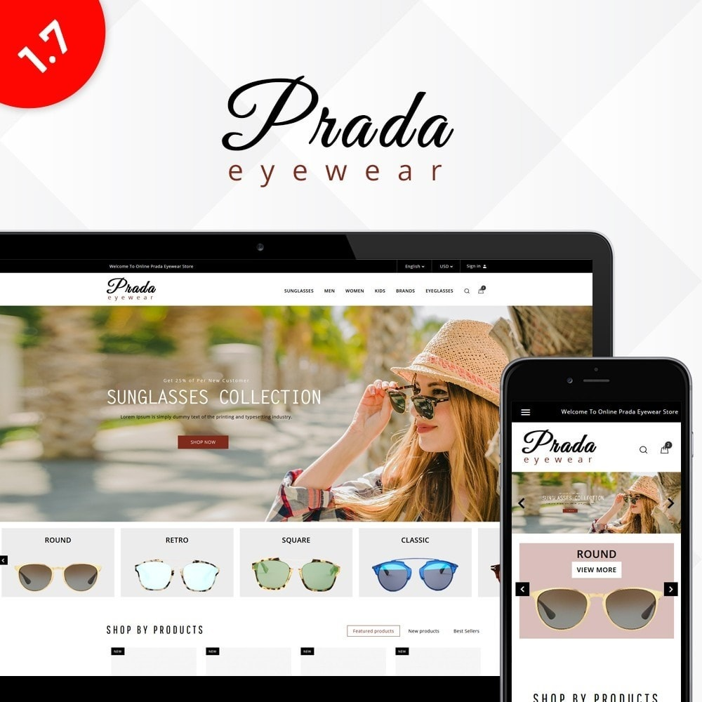 theme - Mode & Schoenen - Prada eyewear sunglasses store - 1