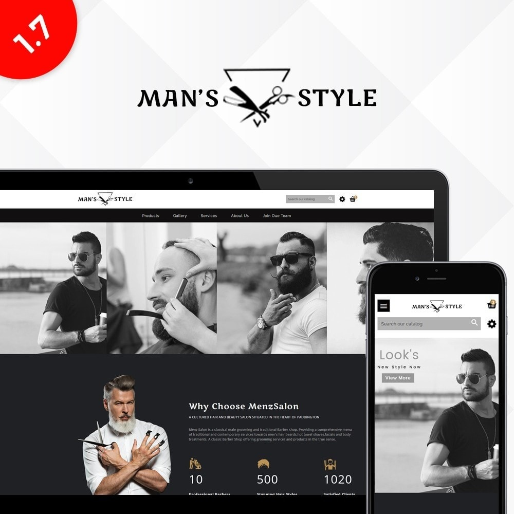 theme - Salute & Bellezza - Men's Style Barber Store - 1