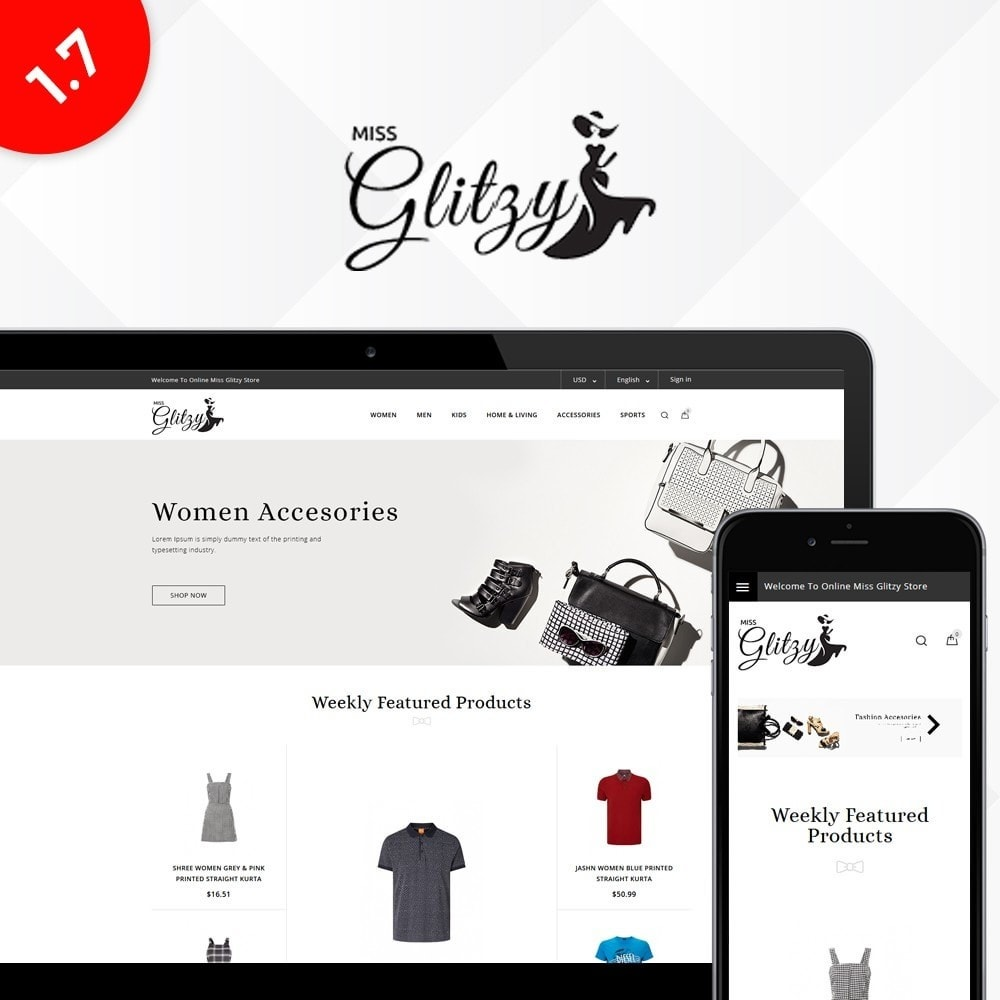 theme - Mode & Chaussures - Miss Glitzy Fashion Store - 1
