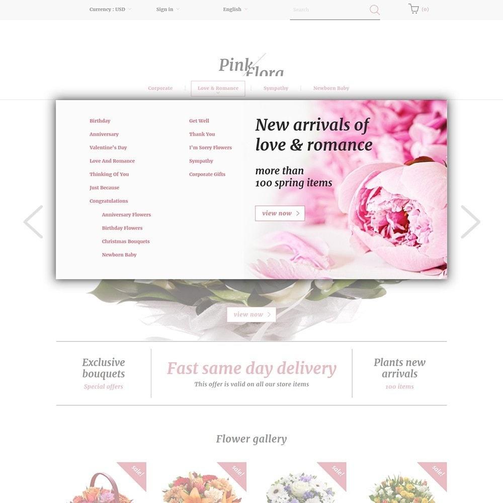 theme - Presentes, Flores & Comemorações - Pink Flora - 5