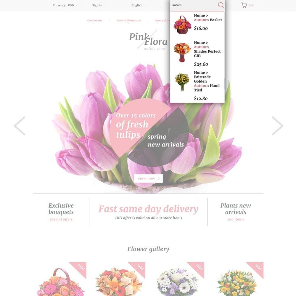 theme - Cadeaux, Fleurs et Fêtes - Pink Flora - 6