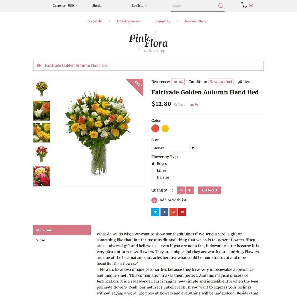 theme - Regalos, Flores y Celebraciones - Pink Flora - 3