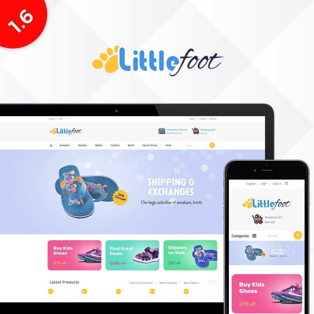 theme - Kids & Toys - Little Foot - Kids Store - 1