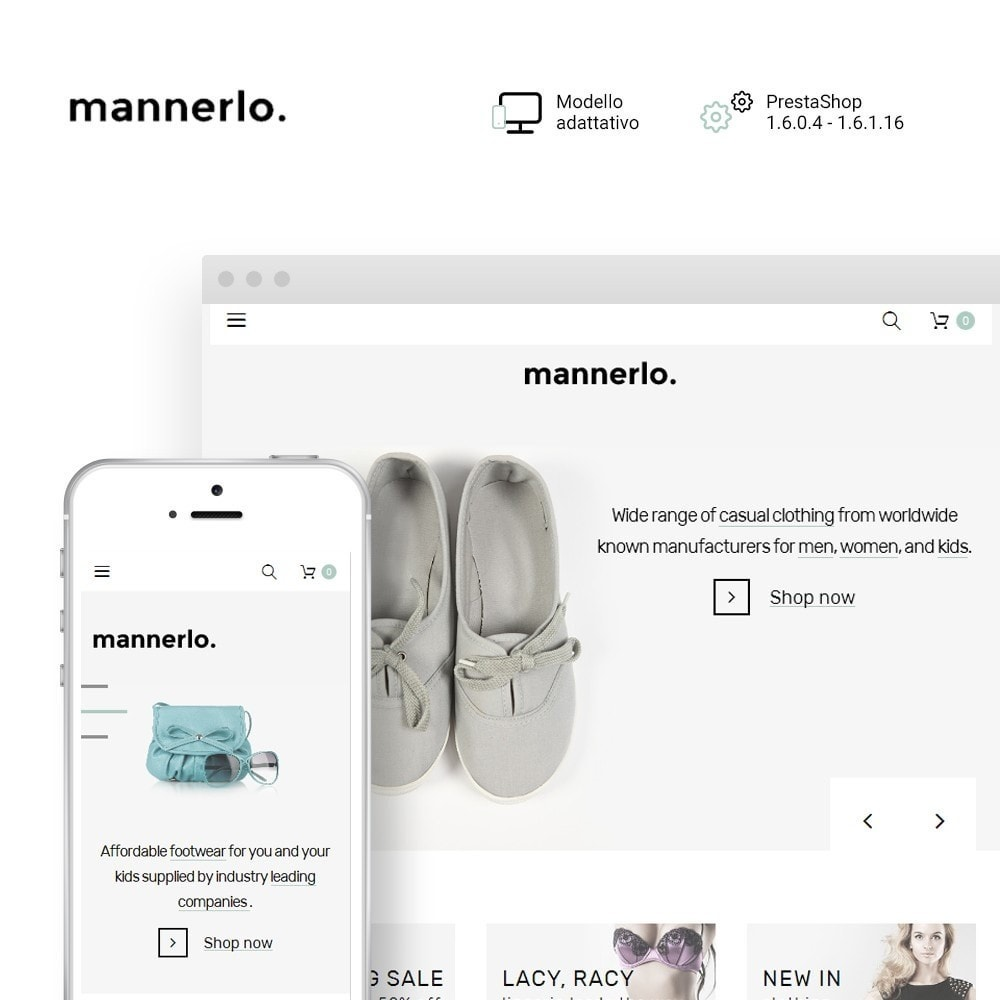 theme - Moda & Calzature - Mannerlo - Apparel Responsive - 1