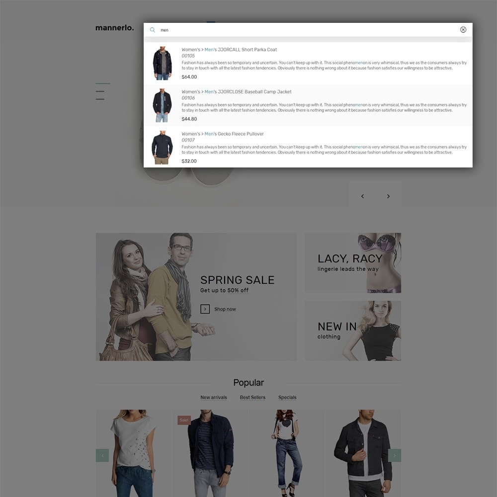 theme - Moda & Calzature - Mannerlo - Apparel Responsive - 6