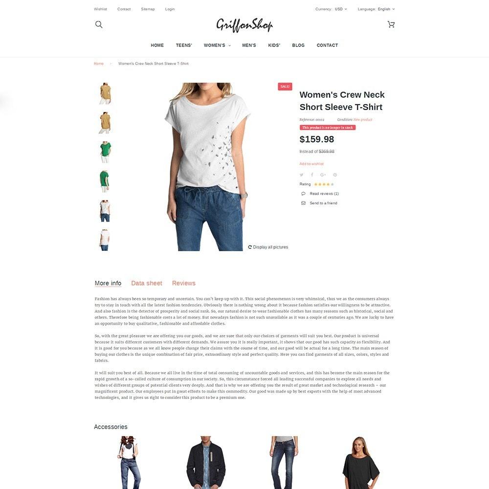 theme - Moda & Calzature - Griffon Shop - Apparel - 3
