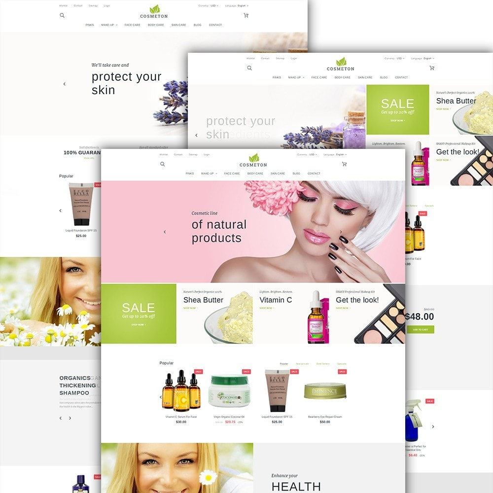 theme - Здоровье и красота - Cosmeton - Skin Care - 2