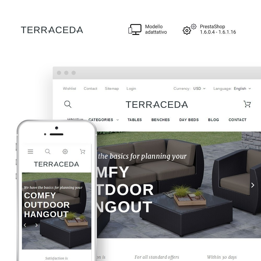 theme - Arte & Cultura - Terraceda - per Un Sito di Arredamento - 1