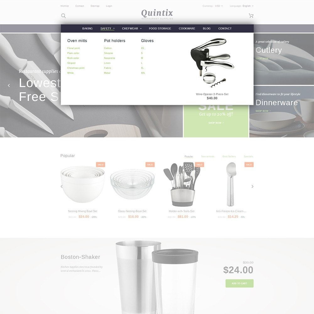 theme - Kultura & Sztuka - Quintix - Restaurant Supplies - 5