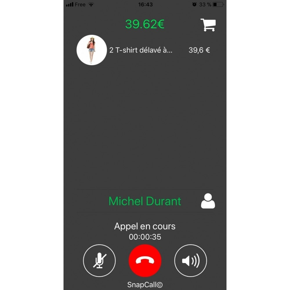 module - Suporte & Chat on-line - SnapCall, The digital call button - 3